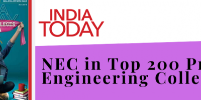 NEC ranked in the Top 200 Private Engineering Colleges by India Today
